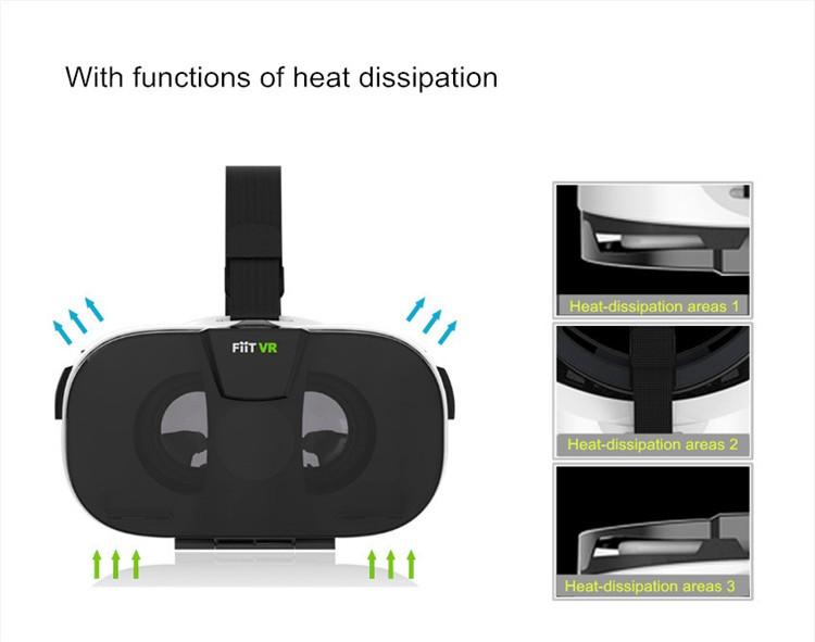FIIT VR 3D Virtual Reality Video Helmet Cardboard 2.0 VR Glasses Box for 4.0-6.5 inch Smartphone Lightweight Ergonomic Design (8)