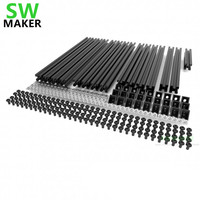 SWMAKER All Black/Silver Hypercube 3D Printer Extrusion Metal Frame & Hardware Kit For DIY HyperCube 3D Printer/CNC Machine