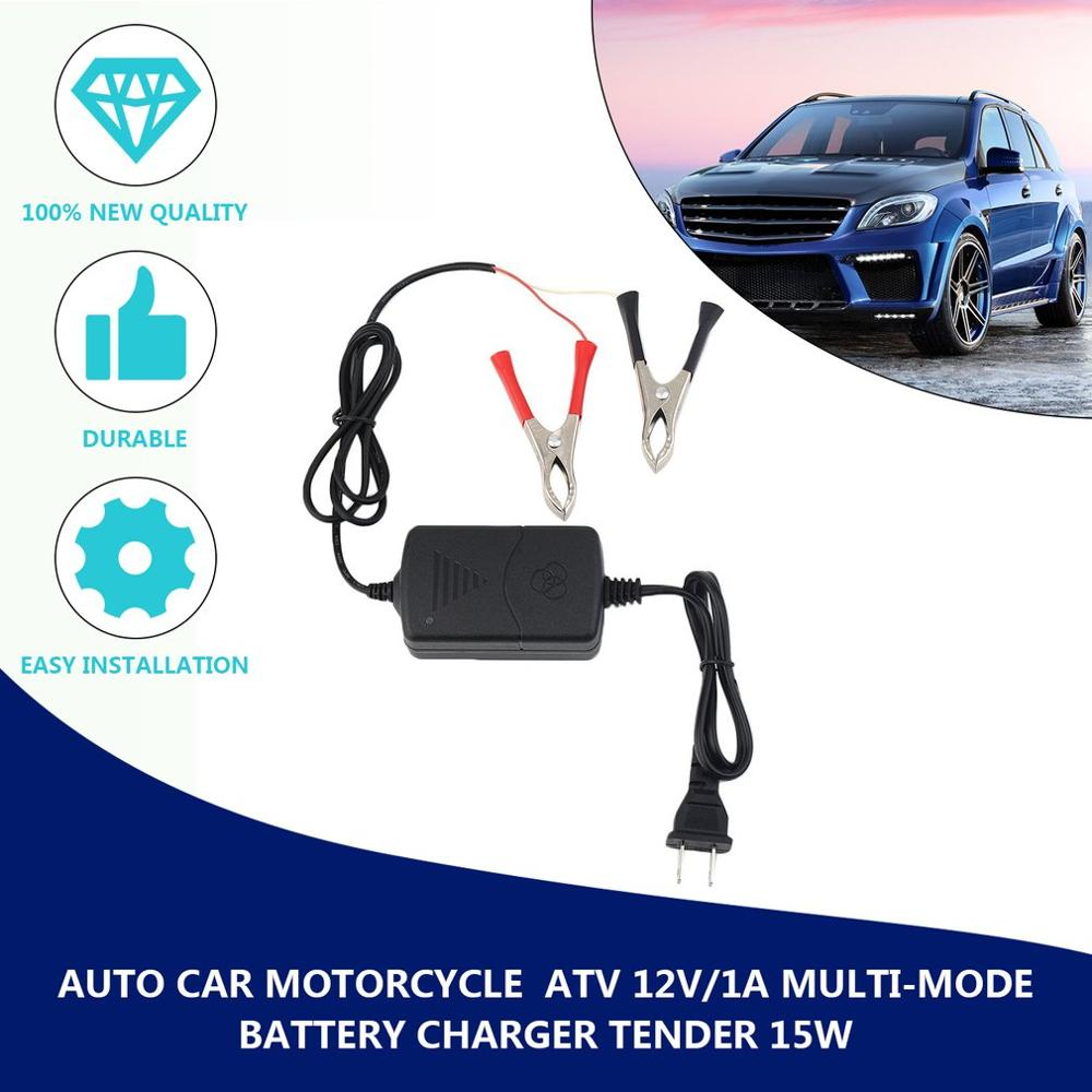 New <font><b>Car</b></font> Motorcycle ATV DC 12V/1.2A 15W Smart Fast Universal Portable Multi-mode Rechargeable <font><b>Battery</b></font> <font><b>Charger</b></font> Tender <font><b>Maintainer</b></font> image