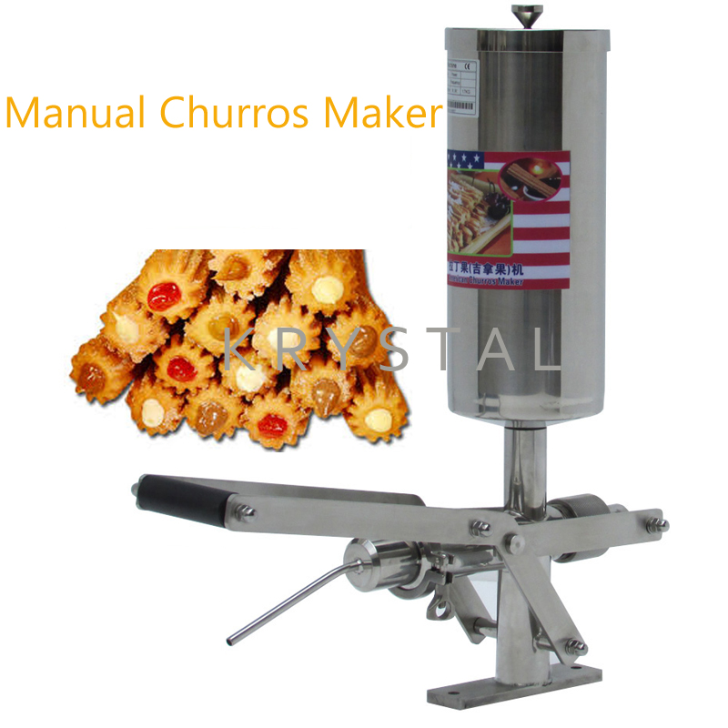 5L Manual Churros Stuffer Stainless Steel Churros Machine Jam Filling Machine Puff Stuffer Machine цены