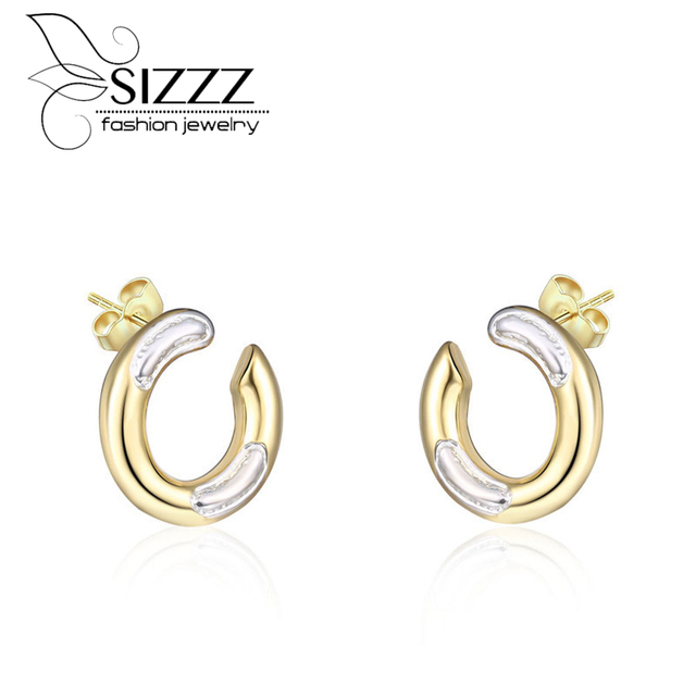 Us 3 88 Sizzz Fashion Style Section Color U Shaped Earrings Female Models Jewelry Pop Stud For Women In From