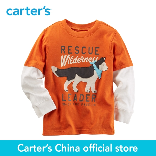 8130fb564 Carter's 1pcs baby children kids Long-Sleeve Layered-Look Graphic Tee  225G497,sold by Carter's China official store