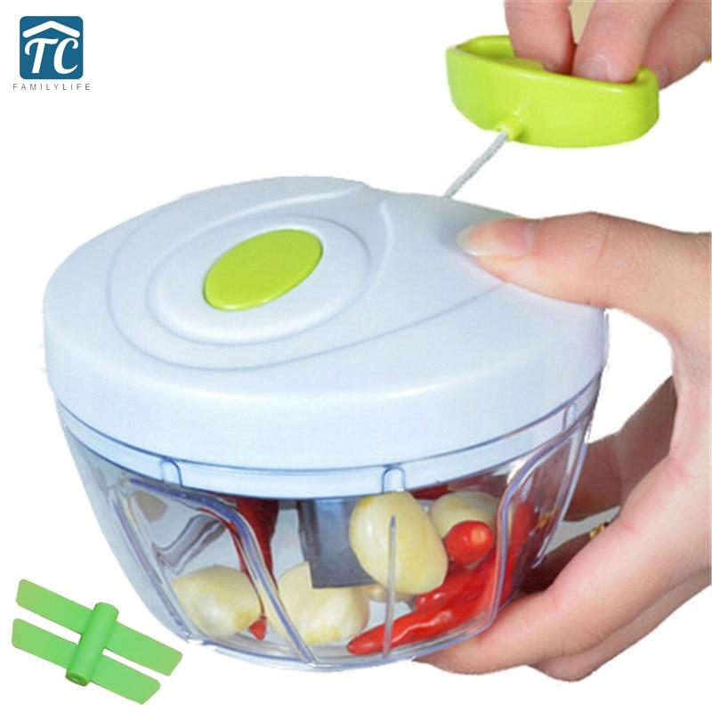Küche Werkzeuge Multifunktions Lebensmittel Chopper Knoblauch Cutter Gemüse Slicer Speedy Chopper Werkzeuge Manuelle Fleischwolf Drop verschiffen