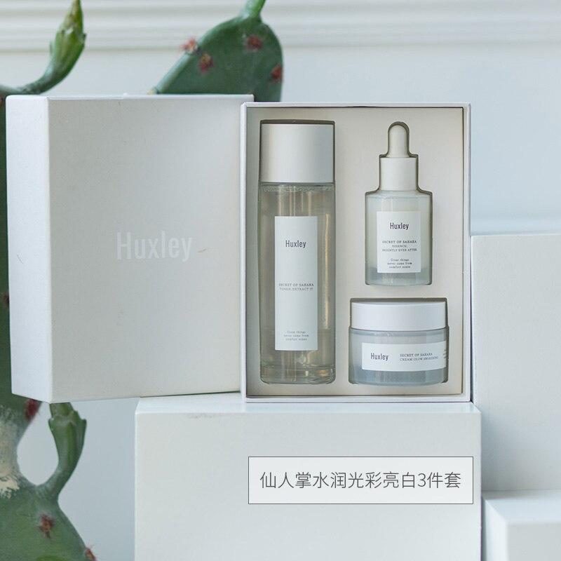 Хаксли секрет сахара Осветляющий Трио Набор по уходу за кожей корейской косметики
