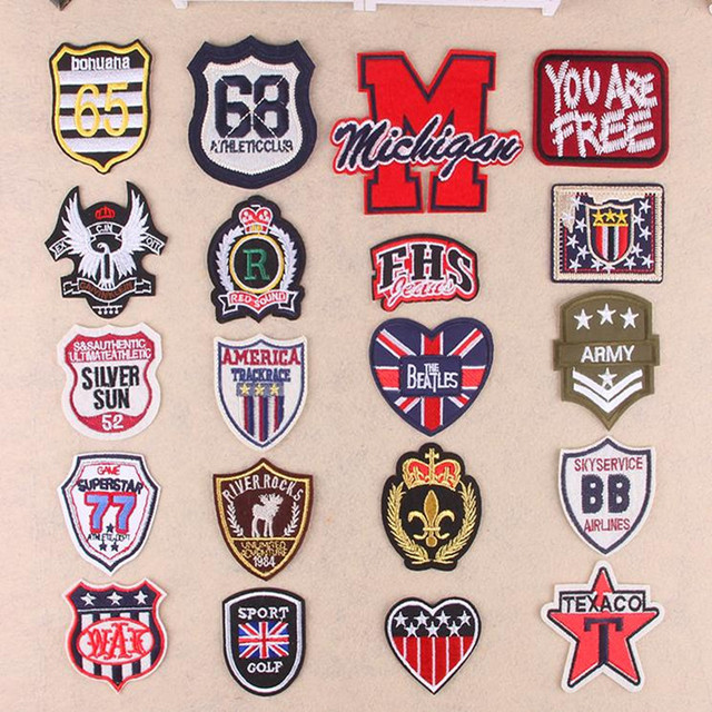Promotion new mix 20pcs applique embroidery badge blossom Hot melt adhesive clothing patch iron on patches DIY accessories