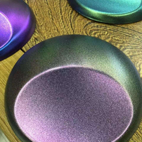 1.52X20 메터 공기 무료 거품 3 색 광택 카멜레온 탄소 섬유 물 전송 필름 자동차 랩 보라색-골드