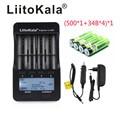 Новое зарядное устройство LiitoKala lii-500 3 7 В 18650 26650 + 4 шт. 3 7 В 18650 3400 мАч INR18650B аккумуляторная батарея для фонариков