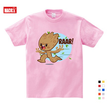 mother kids  Groot T Shirt For Kids Summer Short Sleeve Tee Tops Children Funny T-shirts Boy Girls Lovely Cartoon printing Top