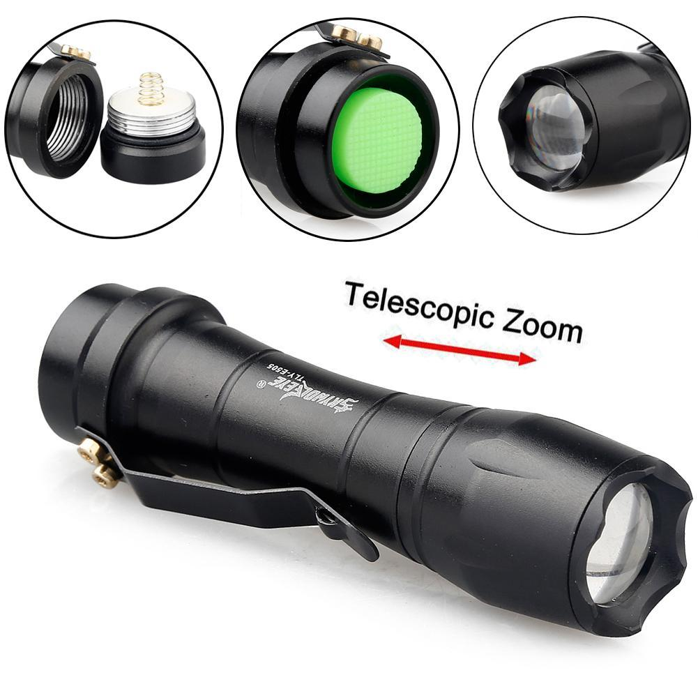 SKYWOLFEYE Mini penlight 2000LM XP-E Q5 LED Waterproof Flashlight zoomable Adjustable 3  ...