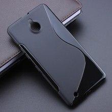 Black S-Line Anti Skidding Gel TPU Slim Soft Case Back Cover For Microsoft Nokia