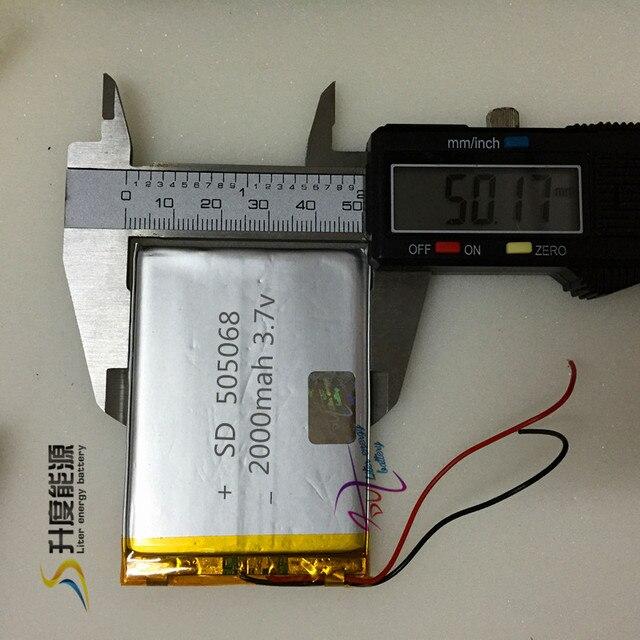 SD505068 505068 3.7v 2000MAH li-polymer rechargeable battery