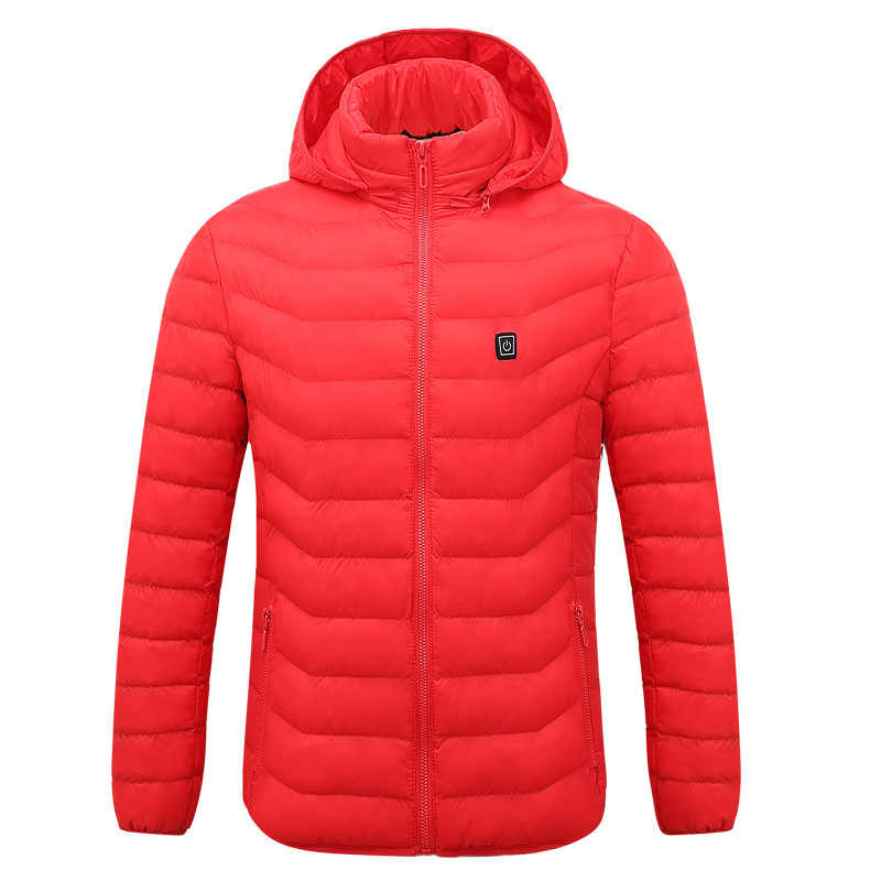 Новинка 2018 года; куртки с электрическим подогревом для мужчин и женщин; пуховые хлопковые куртки с подогревом; зимняя теплая одежда с капюшоном