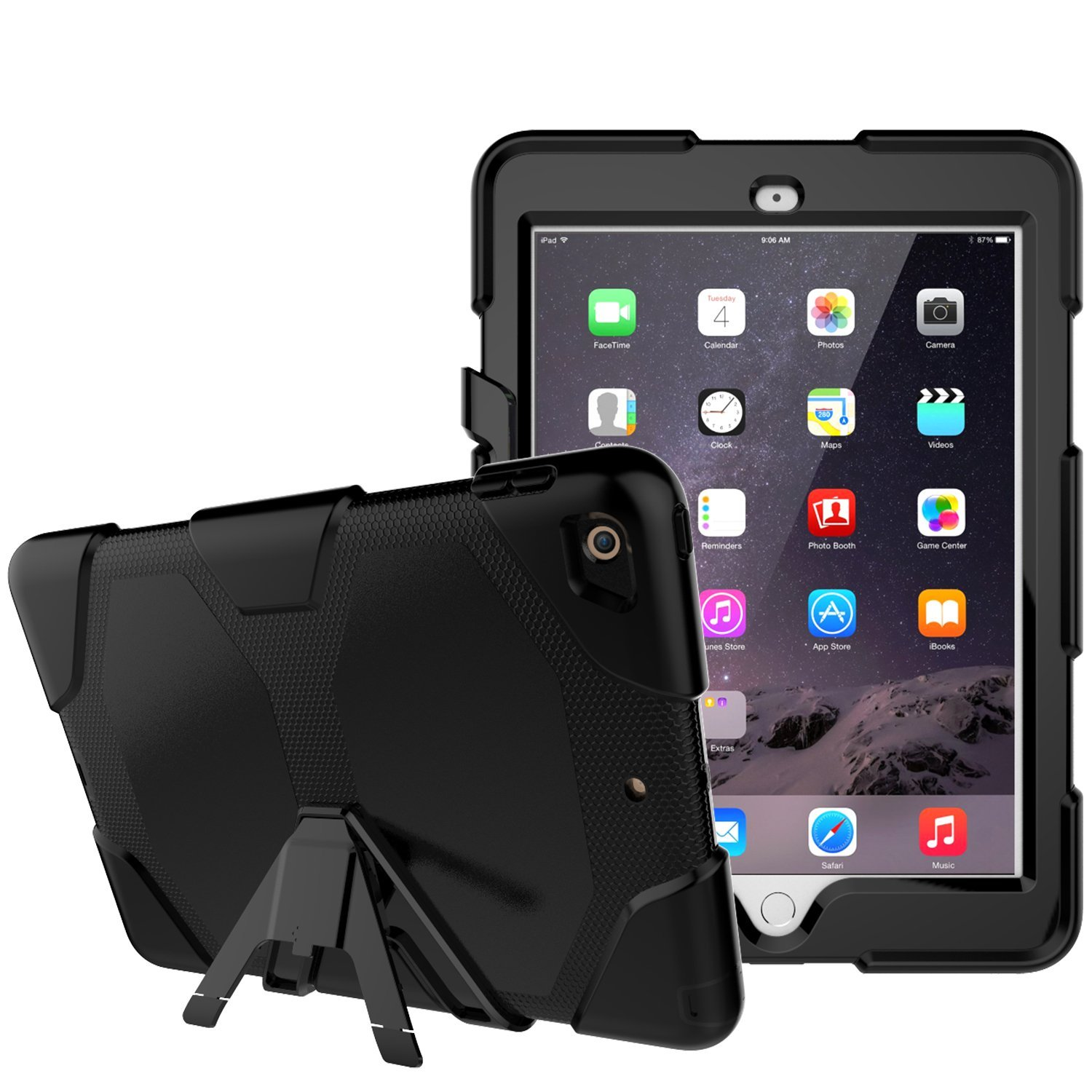 2017 Slim Heavy Duty Shockproof Case For iPad 9.7Inch Rugged Silicone Cover For New iPad 9.7 Inch Tablet case for ipad pro 12 9 case tablet cover shockproof heavy duty protect skin rubber hybrid cover for ipad pro 12 9 durable 2 in 1