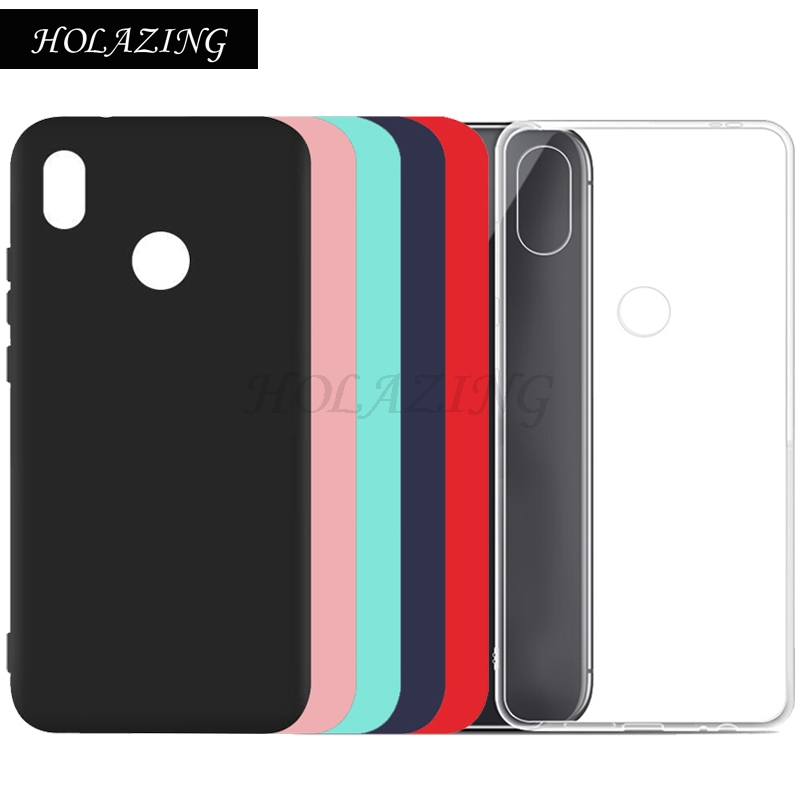 HOLAZING Matte Colorful Clear Transparent Soft Silicone TPU Case For Huawei Nova 3E UltraThin Protective Cover Red Black Green