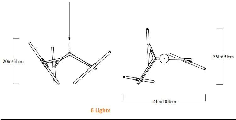 6 lights