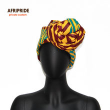 African Head Scarf print cotton high quality african traditional Bazin Rich HeadwearA6S02
