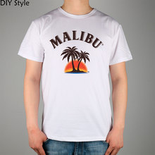 Palm Beach Malibu Logo short-sleeved t-shirt Male Cotton Lycra Top New Arrival Fashion Brand T Shirt For Men
