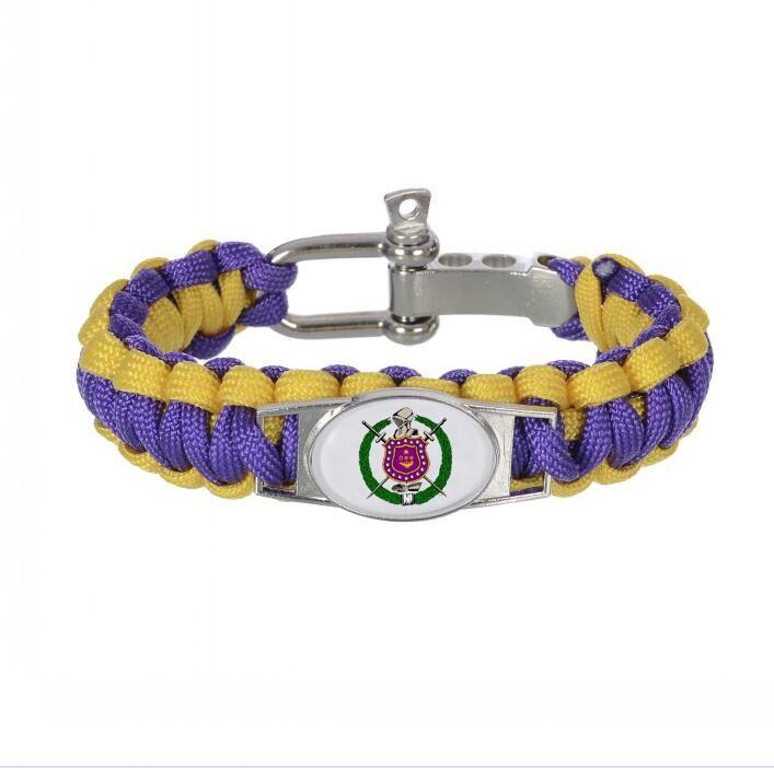 custom greek letters 550 paracord bracelets omegaa psi phi fraternity adjustable survival bracelet