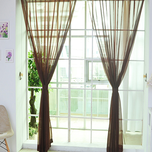 transparent curtains solid white tulle modern curtains for living room transparent tulle curtains window sheer for the bedroom - Window Sheers