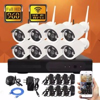 SmartYIBA APP Push Wireless CCTV Camera Kit 4CH 8CH WIFI Monitoring Camera System +1T/2T Security Camera for Home Surveillance