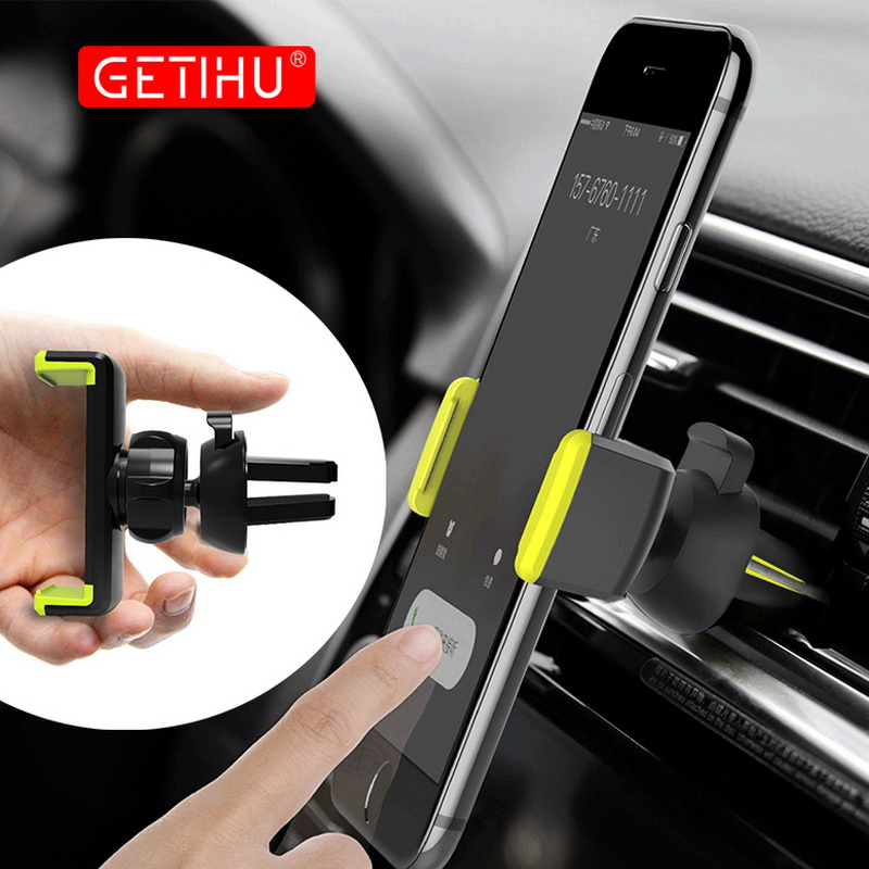 GETIHU Car Phone Holder 360 Degree Air Vent Clip Mount Stand In Car Mobile Cell Smartphone Cellphone For IPhone X Samsung Xiaomi