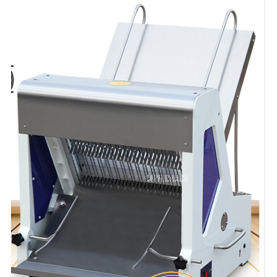 Automatic Electric 31 Slices Square Bread Slicer Machine Stainless Steel Steamed Bun Slicer Commercial Toast Slicing Machine