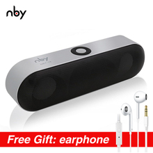 nby-18 Protable Bluetooth Speaker with FM Radio Wireless 3D Stereo loudspeaker Surround Sound System Music Box Outdoor Speakers awei y600 intelligent nfc bluetooth speaker 3d stereo surround sound csr 4 1 wireless loudspeaker 2600mah with noise reduction