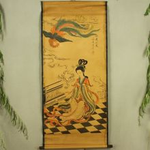 China Antique collection Boutique Calligraphy and painting Beauty flute diagram