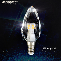 LED Crystal Lamp 3W 220V/110V LED Candle Bulb Crystal LED Light for Chandelier E14/E12 Candelabra for Living room