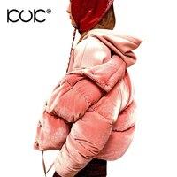 Kuk Winter Jacket Women Manteau Femme Hiver Parka Mujer Pink Coat Warm Thick Female Velvet Outerwear