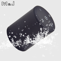 M J T2 Mini Outdoor Waterproof Wireless Bluetooth Speaker Portable Bass Box Column Series Connection Design