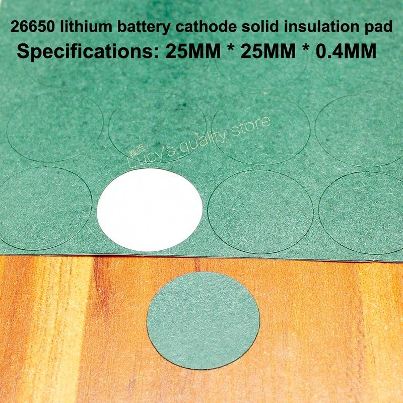 Купить с кэшбэком 100pcs/lot 26650 Lithium Battery Positive Hollow Tip Insulation Pad Surface Mat Meson Single Spacer Diy Fittings