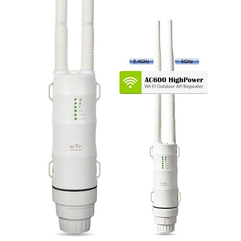 Easyidea Открытый WiFi ретранслятор 2.4 г + 5 ГГц Беспроводной WiFi Усилители домашние с AP WISP AC600 27dBm wifi роутер высокого мощность WiFi Extender