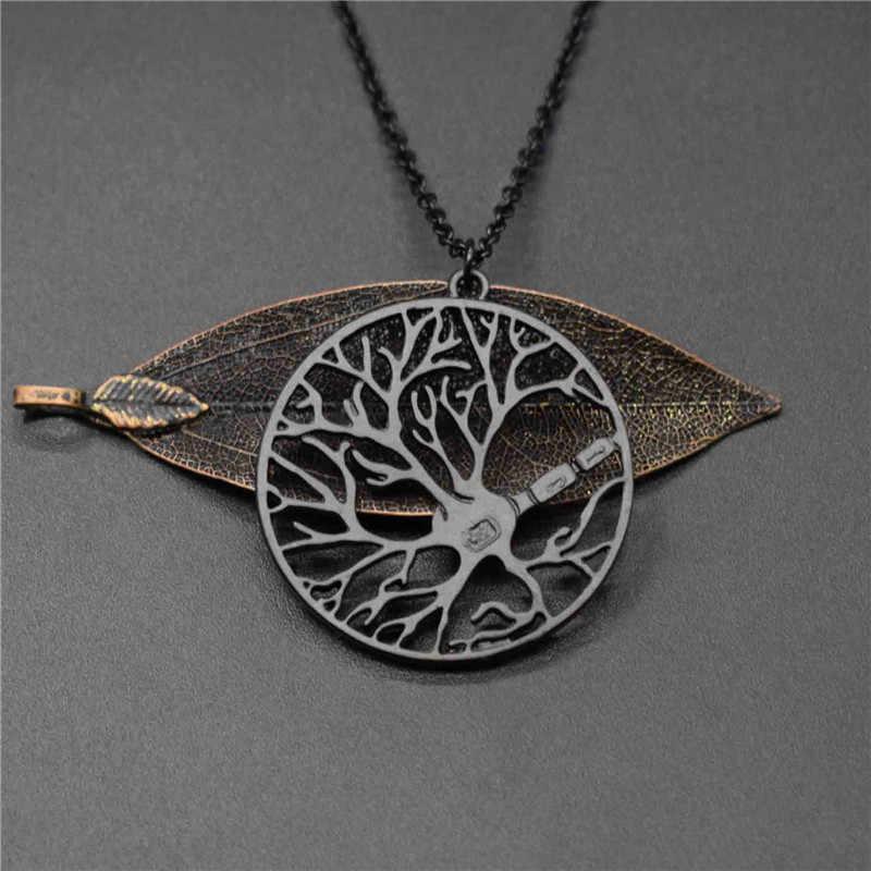 Elfin สมองใหม่เซลล์ Neuron in วงกลมสร้อยคอต้นไม้จิตวิทยาสร้อยคอ Science Biology เครื่องประดับ
