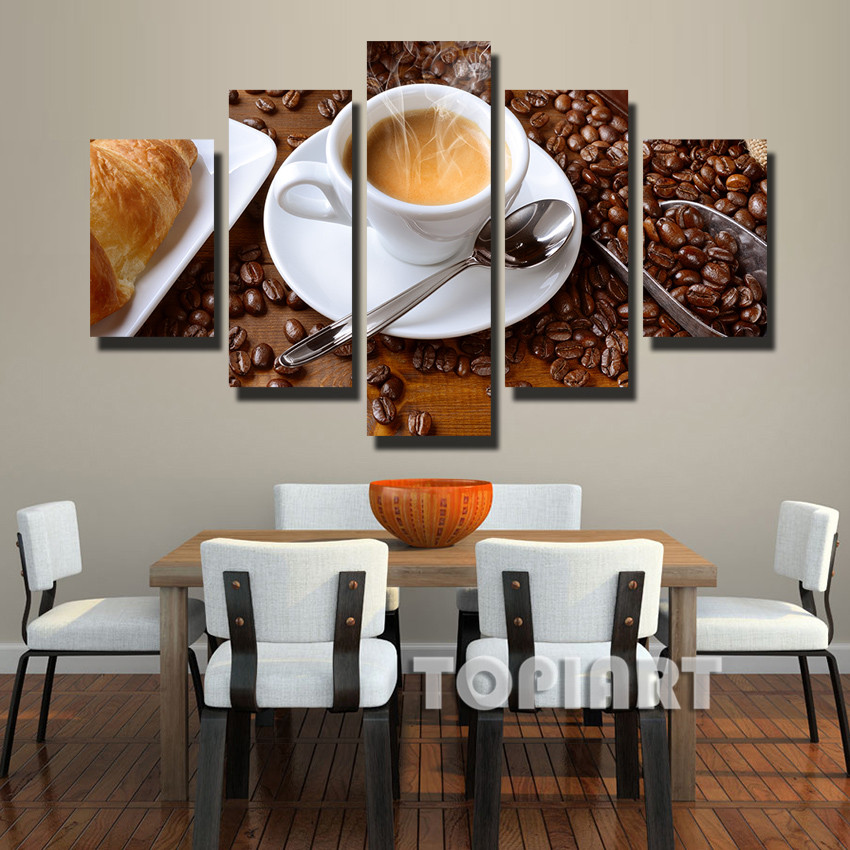 Online get cheap canvas food art alibaba for Kitchen decoration piece