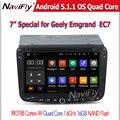 Quad-Core Android5.1 Операционной Системы 1024x600 Разрешение автомобиль мультимедиа плеер для Geely Emgrand EC7 с зеркало ссылка wi-fi