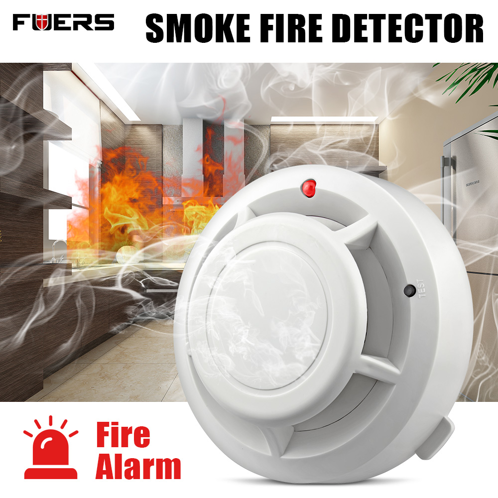 FUERS Quality Independent Alarm Smoke Fire Sensitive Detector Home Security Wireless Alarm Smoke Detector Sensor Fire Equipment(China)