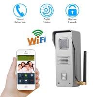 WiFi wireless intercom Video Door Phone intercom Doorbell Peehole Camera Remote Unlock IR Night Vision metal waterproof camera