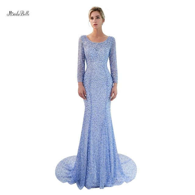 Modabelle 2018 New Backless mermaid evening gowns Whole body beading evening  dress Real picture Free Shipping Prom Gowns bf476bf24ebf