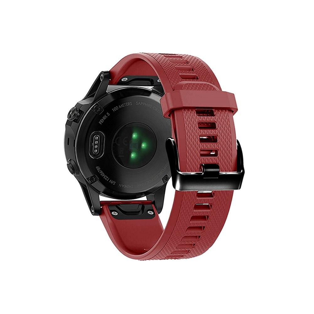 מערכות שמע נייד לביש צפה Easy Fit צמיד עבור Garmin Fenix 5/5 פלוס שחרור מהיר רצועה עבור Garmin Forerunner 935/945/45 / 45s Wriststrap (4)