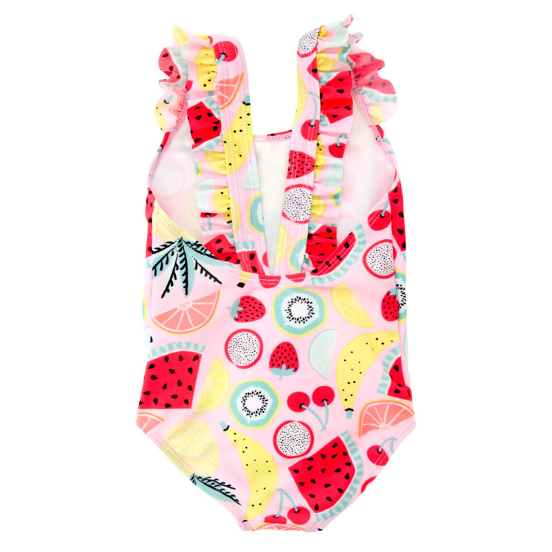 2019 Girl Swimming Suit Fruits Children Swimming In Hot Spring Speed Do Lin Tai Kids Clothes Baby Toddler Boys Clothing Set in Clothing Sets from Mother Kids