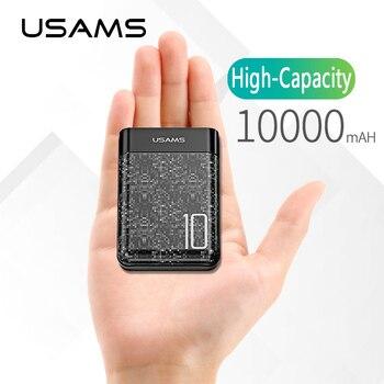 10000 mAh banco de potencia 2A salida Universal teléfono móvil batería externa, USAMS 10000 mAh Mini USB Power Bank polímero baterías