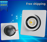 Dimmable LED Downlight 10W15W COB Led Ceiling Recessed Downlight Spot Light Super Bright Square Down