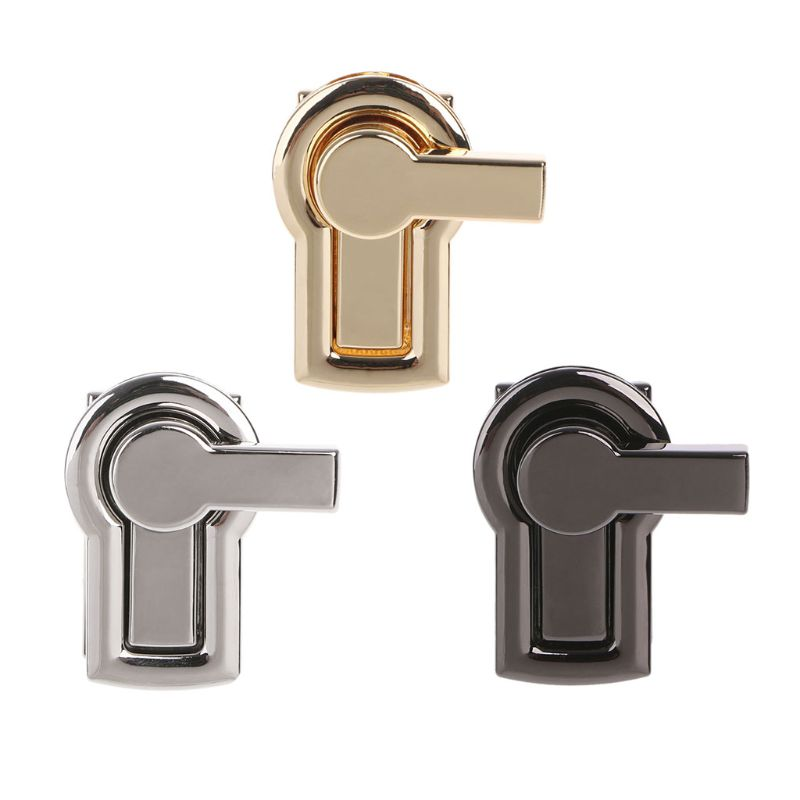 Fashion New 1 Pc DIY Craft Replacement Metal Clasp Turn Lock For Handbag Shoulder Bag Purse Hardware Accessories 3 Colors