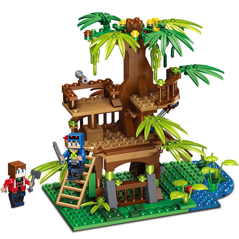 Toys & Hobbies Blocks Original 8in1 My World Series Forest Tree House Village Minecrafted Building Blocks Sets Compatible Legoings Bricks Toys For Children