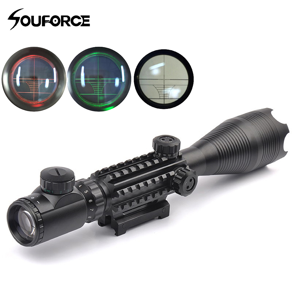 4-16X50YG Riflescope with Illuminated Red/Green Rangefinder Reticle Triple 20mm Rail for Hunting Gun Airsoft Rifle Scope no tax to eu 1500w cnc router 8060 3axis usb port mach3 control ball screw for metal aluminum stell wood etc