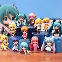 Vocaloid cartoon Nendoroid figure 2 style snom miku Hatsune Miku 6pcs/set figurine collection decoration Christmas gifts Y7002