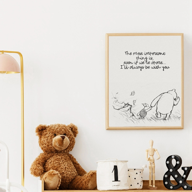 Winnie The Pooh Quote Poster Home Decor
