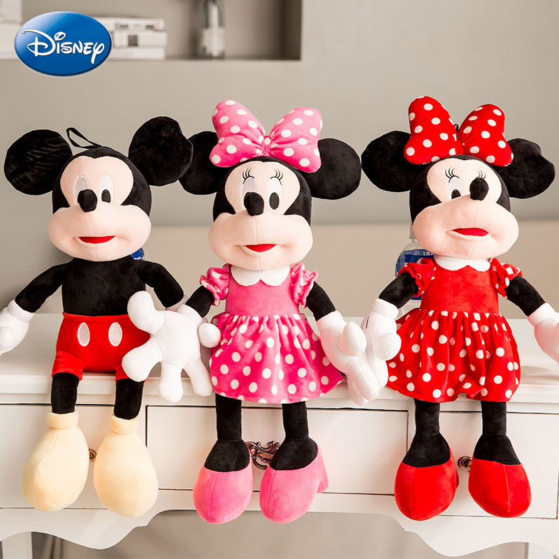 Hot Cute Stuffed Mickey Mouse and Minnie Mouse Cartoon 1PC 50cm Plush Toys Soft
