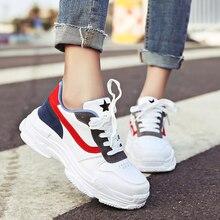 Women Reflective white shoes Thick Bottom Platform lady Panda Triple S light gym sport running masculino famale 35-40